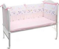 Бампер в кроватку Сонный Гномик Конфетти (розовый)