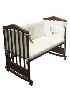Бампер в кроватку Сонный Гномик Пикник (молочный)