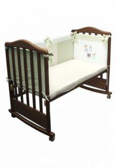 Бампер в кроватку Сонный Гномик Пикник (фисташковый)