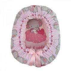 Подушка-валик-гнездо Золотой Гусь Слоник Боня (розовый)