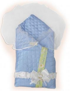 Одеяло на выписку Bombus Мила (голубой)