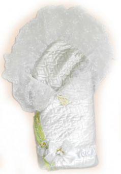 Одеяло на выписку Bombus Мила (зима/белый)