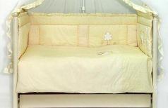 Бампер в кроватку Labeillebaby Светик (желтый)