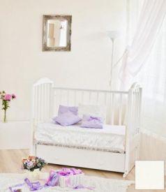 Кроватка с маятником Красная Звезда Регина (ванильь/накладка №23)