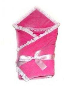 Одеяло на выписку Bombus Малютка (велюр/розовый)