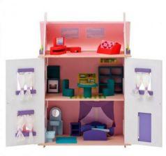 Кукольный домик Анастасия, для кукол до 15 см (15 предметов мебели)