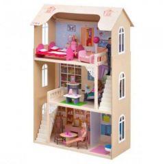 Кукольный домик Шарм, для кукол до 30 см (16 предметов мебели, 2 лестницы)