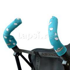 Чехлы Choopie CityGrips на ручки для коляски-трости(379 aqua whale бирюзовый)