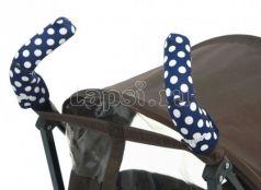 Чехлы Choopie CityGrips на ручки для коляски-трости(367 polka-dot navy синий)