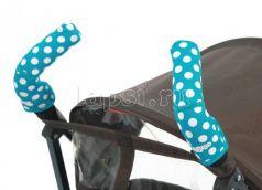 Чехлы Choopie CityGrips на ручки для коляски-трости(369 polka-dot aqua голубой)