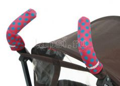 Чехлы Choopie CityGrips на ручки для коляски-трости(371 polka-dot pink розовый)