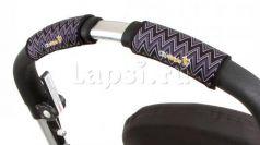 Чехлы Choopie CityGrips на ручки для универсальной коляски(318 ZigZag Black серый)