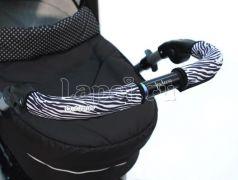 Чехлы Choopie CityGrips на ручки для универсальной коляски длинные(510 Zebra серый)