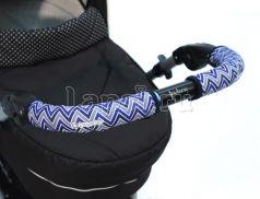 Чехлы Choopie CityGrips на ручки для универсальной коляски длинные(508 Chevron Baby Blue синий)