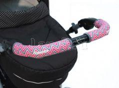 Чехлы Choopie CityGrips на ручки для универсальной коляски длинные(509 Chevron Baby Pink розовый)