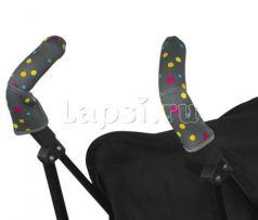 Чехлы Choopie CityGrips на ручки для коляски-трости(605 Broadway Dots серый)