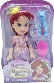"""1toy Красотка кукла """"Волшебная Сказка""""15 см с ПВХ дракончиком 5см,ободком, расческой,13х19х5,5см,блистер"""