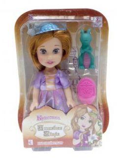 """1toy Красотка кукла """"Волшебная Сказка""""15 см с ПВХ дракончиком 5см,шляпкой, расческой,13х19х5,5см,блистер"""