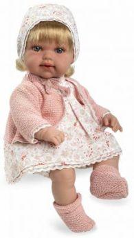 Arias ELEGANCE мягк кукла 33 см.,  со звук. эфф. смех (3хLR44/AG13), с соской, в кор. 24,5*14*40,5 см.