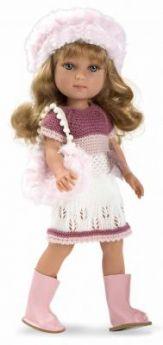 Arias ELEGANCE кукла винил. 36 см. в платье, шапочке, ботиночках, с сумочкой, в кор. 20*12*37 см.