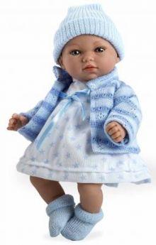Arias ELEGANCE мягк кукла 28 см., со звук. эфф. Гуление (3хLR44/AG13), в одежде,голуб. цвет., в кор. 20*12*35 см.