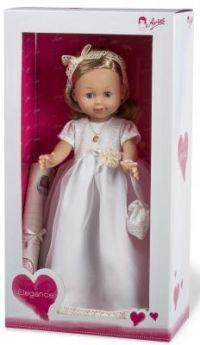 Arias ELEGANCE винил. кукла 42 см.в платье, с аксессуаром, светлые волосы, в кор. с окошком 25,5*13,5*47,5 см.