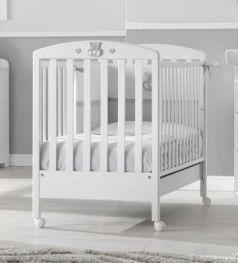 Кроватка Erbesi Charly (белый/серый)