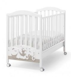 Кроватка Erbesi Mirtillo (белый/песочный)