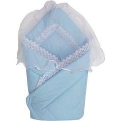 Конверт-одеяло на выписку Золотой Гусь 2714 (сатин-жакард/голубой)