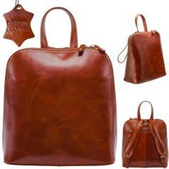 Рюкзак-мини FLAVIO FERRUCCI, молодежный, коричневый,фурнитура- антич.латунь, н/кожа, 28.5x26x11.5см