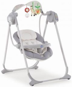 Качели электронные Chicco Polly Swing Up (silver)