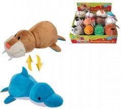 Подушка вывернушка 1toy Морж-Дельфин плюш 20 см