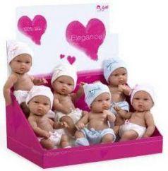 Arias ELEGANCE кукла винил. 33 см,шапочки с бантиками, 6 шт/в д-боксе р-р 45*31*24 см(цена за штуку)
