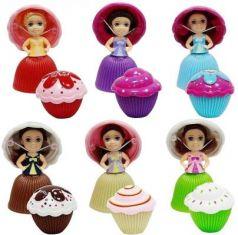 "1toy ""Пироженка-Сюрприз"" MINI кукла-трансформ., 5 см.-пироженка, 9 см.- куколка в раскрытом состоянии, аромат., 6 видов кукол, 5,7*5,7*5,7 см. инд. ко"