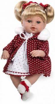 Arias ELEGANCE мягк кукла 33 см., со звук. эфф. смех (3хLR44/AG13), с соской, борд., в кор. 24,5*14*40,5 см.
