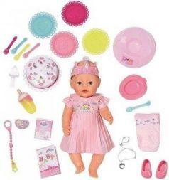 Кукла BABY born Интерактивная Нарядная с тортом, 43 см, кор.