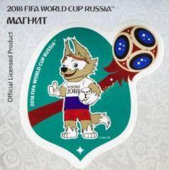 """Магнит картон FIFA 2018 Забивака """"РОССИЯ"""""""