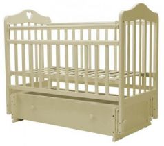 Кроватка с маятником Топотушки Оливия-7 (арт. 36/с сердечком/слоновая кость)