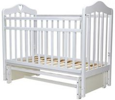 Кроватка с маятником Топотушки Оливия-5 (арт. 37/с сердечком/белый)