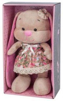 Мягкая игрушка заяц Jack Lin Зайка в Летнем Платье искусственный мех трикотаж пластмасса 25 см