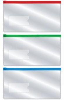 Папка на молнии 233*124мм, с карманом 35*75мм, 0,18мм