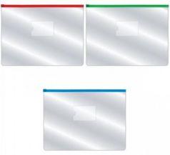 Папка на молнии прозрачная, молния ассорти 4 цвета, ф.A4, 160мкм, с карманом