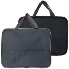 Папка-менеджера SPONSOR с карманом  на молнии с ручками, ткань, А4,ассорти