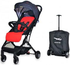 Коляска прогулочная Everflo Baby Travel E-330  (red)