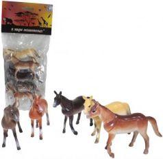 """Набор фигурок 1Toy """"В мире животных"""" - Лошади 10 см"""