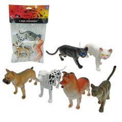 """Набор фигурок 1Toy """"В мире животных"""" - Собаки и Кошки 15 см"""