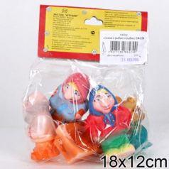 Набор игрушек для ванны Пфк игрушки Сказка о рыбаке и рыбке 8.5 см