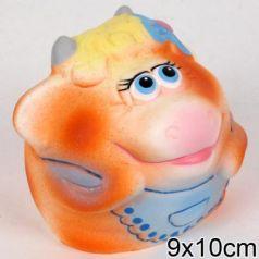 Резиновая игрушка Пфк игрушки Коровка-мяч 10 см