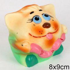 Резиновая игрушка Пфк игрушки Кот-мяч 9 см
