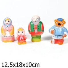 Набор игрушек для ванны Пфк игрушки Машенька и медведь 12.5